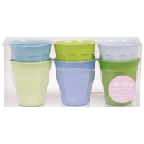 RICE A/S Small Melamine Cup Set Blue/Green Colors BlueGreen