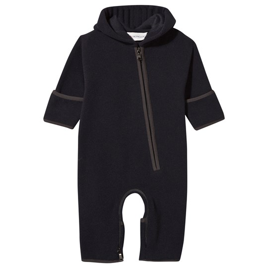 Moncler Pagliaccetto Baby One-Piece Navy Marinblå