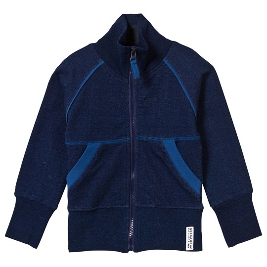 Geggamoja Zip Jacket Indigo Blue