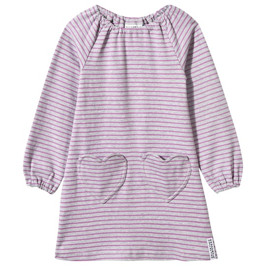 Geggamoja Singoalla Dress Light Grey Mel/Lilac Grey