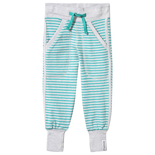 Geggamoja Long Pants Light Grey Mel/Turquoise Harmaa