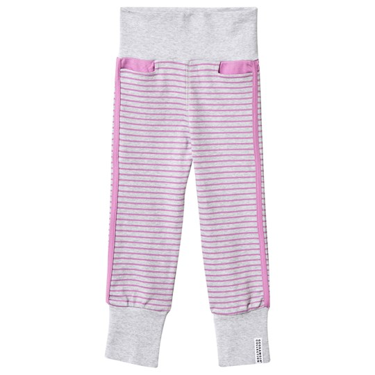 Geggamoja Baby Pants Light Grey Mel/Lilac Grå