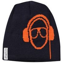 Geggamoja Headphone Beanie Navy marinblå
