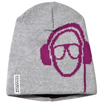 Geggamoja Headphone Beanie Light Grey Mel Grey