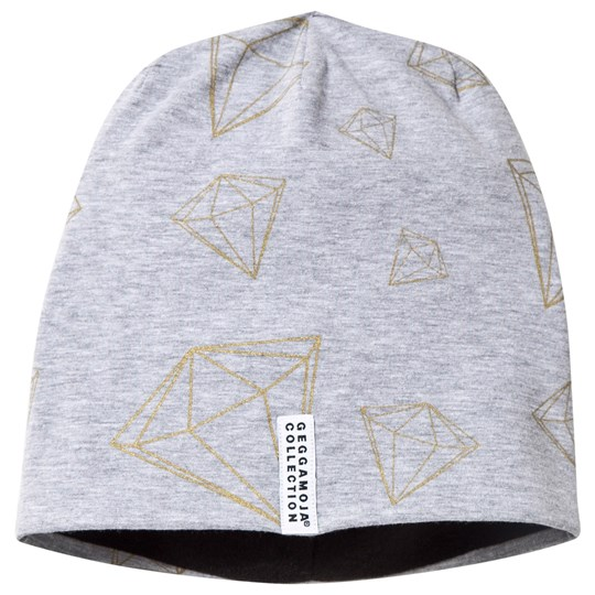 Geggamoja Limited Edition Fleece Cap Diamonts Grå