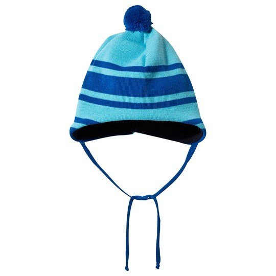 Geggamoja Knitted Baby Hat Turquoise Blue