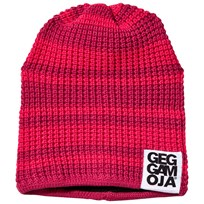 Geggamoja Knitted Hat Raspberry/Coral Pink