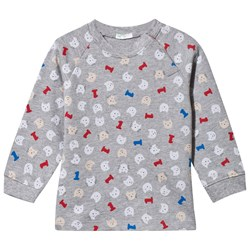 United Colors of Benetton Sweatshirt Cat Print Grey