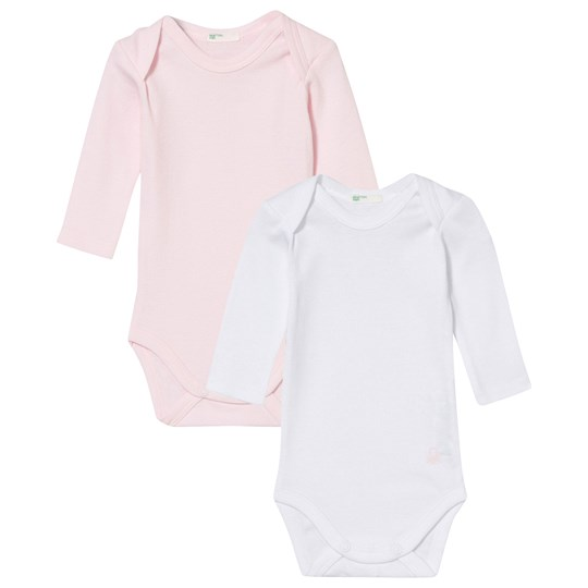 United Colors of Benetton 2-Pack Baby Body White/Pink Pink