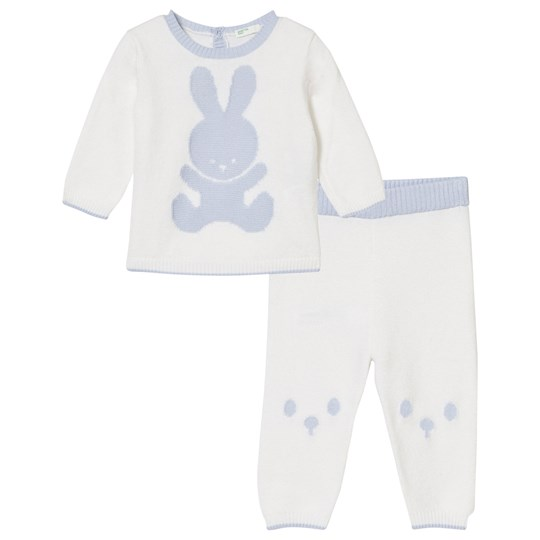 United Colors of Benetton Knit Bunny Set Blue Blue