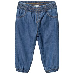 United Colors of Benetton Lined Denim Trousers Blue