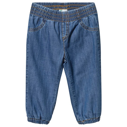 United Colors of Benetton Lined Denim Trousers Blue Blue