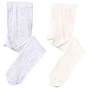 Image of United Colors of Benetton Baby Tights 2-Pack White/Grey White 74 cm (3125336971)