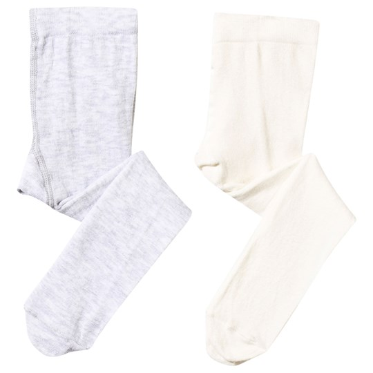 United Colors of Benetton Tights 2-pack White/Grey White White