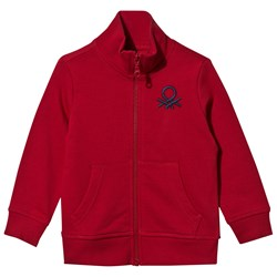 United Colors of Benetton Jersey Zip Jacket Bright Red