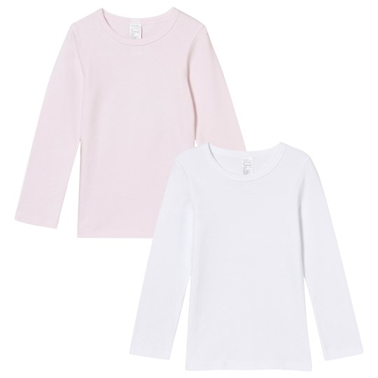 United Colors of Benetton 2-pck Ls Vests Pink White Pink/White