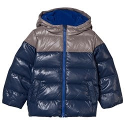 United Colors of Benetton Down Feather Puffer Jacket Navy