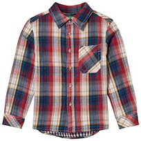 United Colors of Benetton Flannel Shirt Red Red