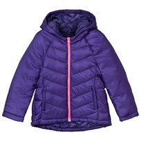 United Colors of Benetton Chevron Hooded Puffer Jacket Purple Purple