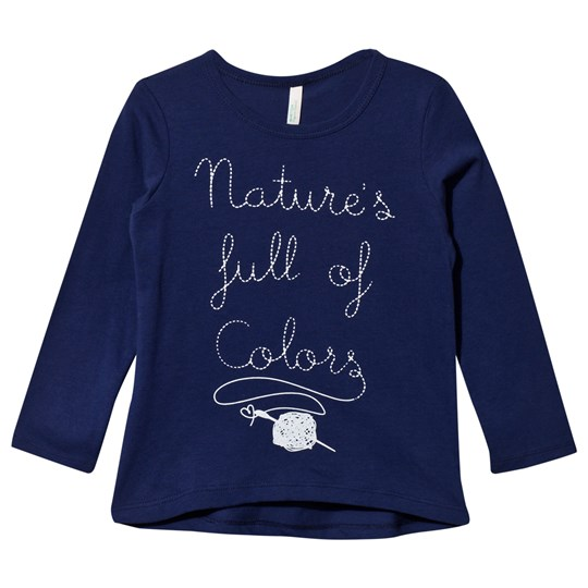 United Colors of Benetton Printed Long Sleeve  T-Shirt Navy Navy