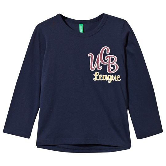 United Colors of Benetton Sequence Print Long Sleeve Navy Navy