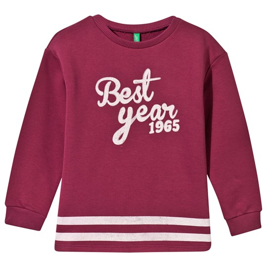 United Colors of Benetton Printed Sweather Pink Pink