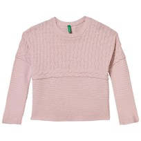 United Colors of Benetton Oversized Stickad Tröja Rosa Pink