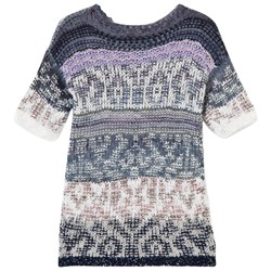 United Colors of Benetton Jacquard Knit Dress Navy