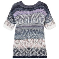 United Colors of Benetton Jacquard Knit Dress Navy Marinblå