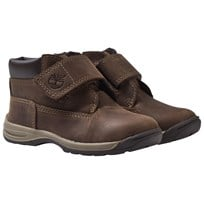 Timberland Timber Tykes Hook & Loop Kängor Brun Nubuck Brown Nubuck