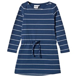 ebbe Kids Ally Dress True Navy/Offwhite Stripe