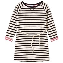 eBBe Kids Alina Dress Off White/Black Stripe Offwhite/black stripe