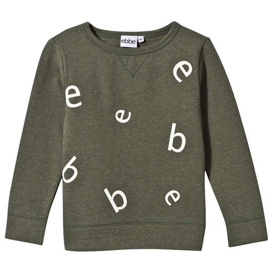 ebbe Kids Znow Letter College Sweater Soft Nature Green Soft nature green