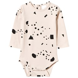 Tinycottons Geometry Chat Long Sleeve Body Beige/Black