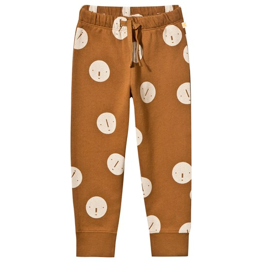 Tinycottons Faces Fleece Sweatpant Brown/Beige brown/beige