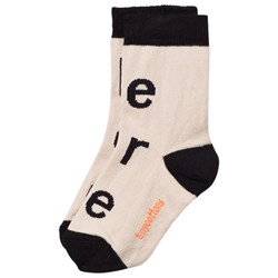 Tinycottons I Like Your Face Socks Beige/black
