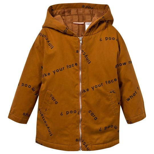 Tinycottons Many Words Padded Jacket Brown/Black Brown/Black