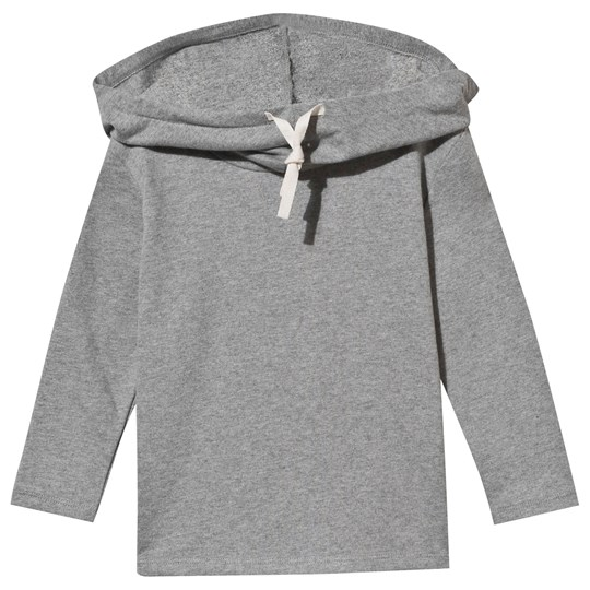 Gray Label Wide Neck Hooded Sweater Grey Melange Grey Melange