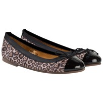 Petit by Sofie Schnoor Leather Ballerina Mud Leopard
