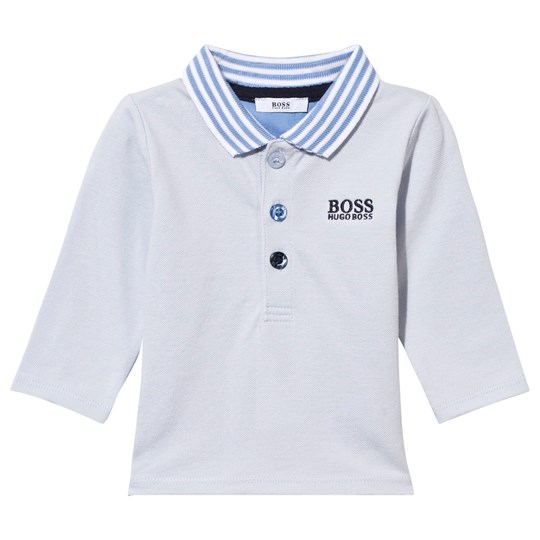 BOSS Long Sleeve Polo Pale Blue Pale Blue