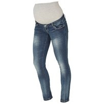 Mamalicious Tony Slim Jeans Medium Blå Denim Medium Blue Denim