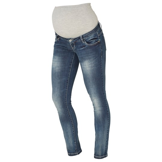 Mamalicious Tony Slim Jeans Medium Blue Denim Medium Blue Denim