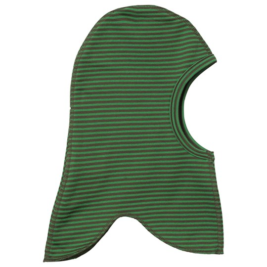 Didriksons Kid's Fleece Balaklava Green Striped Green stri