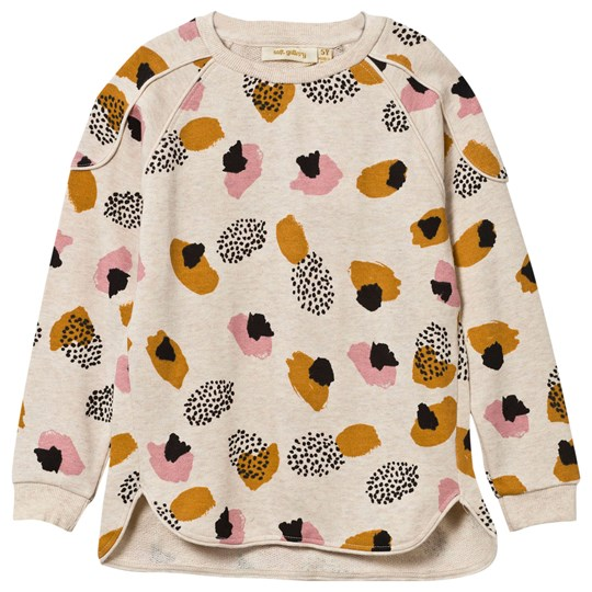 Soft Gallery Signe Sweatshirt Cream Melange Blot Cream Melange, AOP Blot