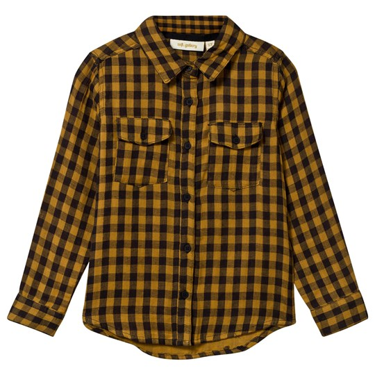 Soft Gallery Severin Shirt Curry Check Curry, AOP Double Check Check