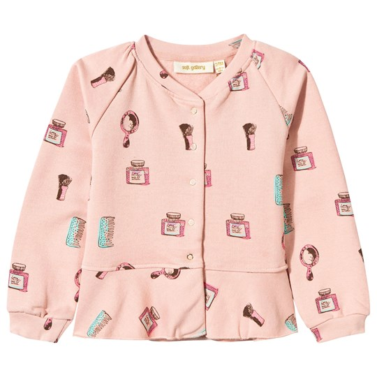 Soft Gallery June Sweat Jacket Rose Cloud, AOP Beauty Rose Cloud, AOP Beauty
