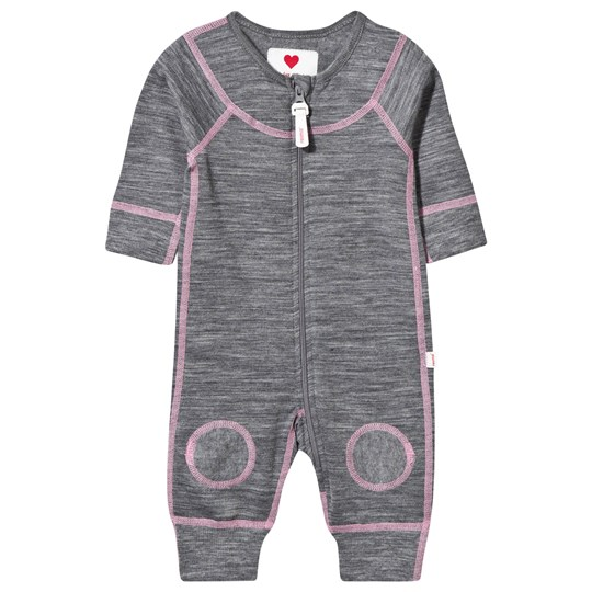 Reima Lauha Wool One-Piece Mid Grey/Pink mid grey-pink
