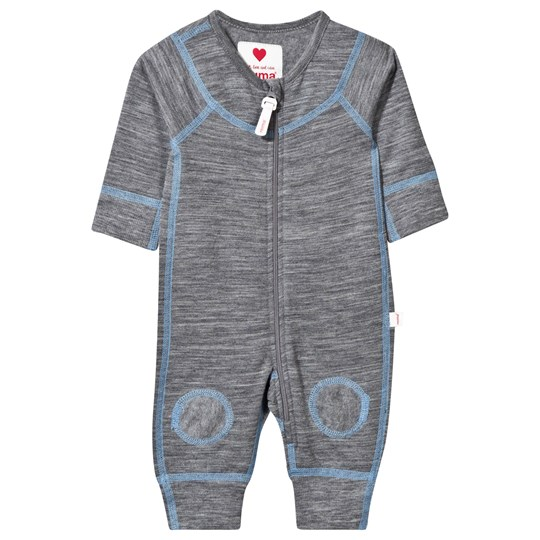Reima Lauha Wool One-Piece Mid Grey/Blue Mid Grey