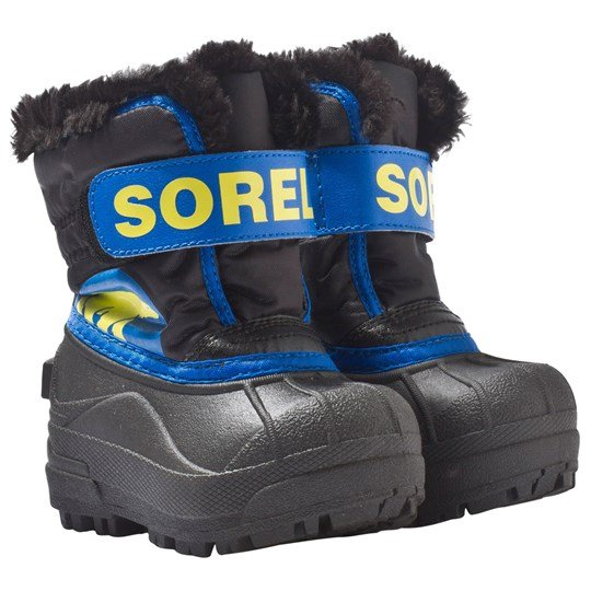 Sorel Toddler Snow Commander™ Boots Black, Super Blue Black, Super Blue