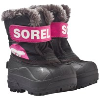 Sorel Toddler Snow Commander™ Boots Black, Haute Pink Black, Haute Pink